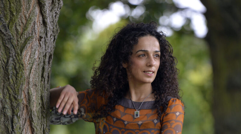 Britain-based Iranian journalist Alinejad poses for a portrait in London