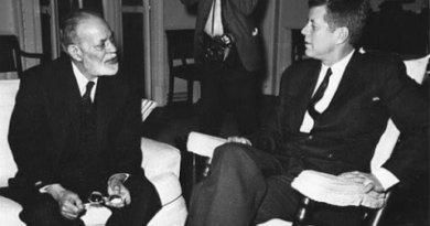 sir zafrullah with president kennedy