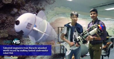 Talented engineers from Karachi smashed world record by making fastest underwater robot fish